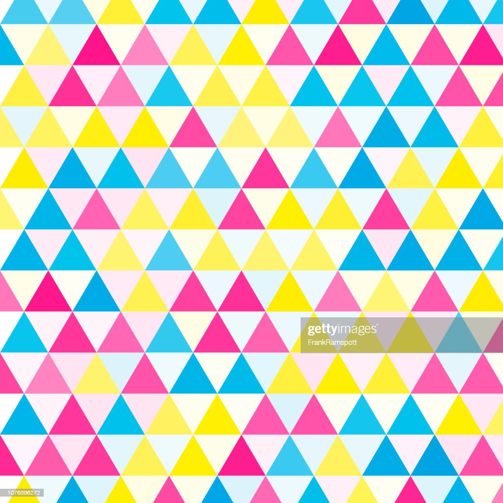Color Equilateral Triangle Vector Pattern : stock illustration