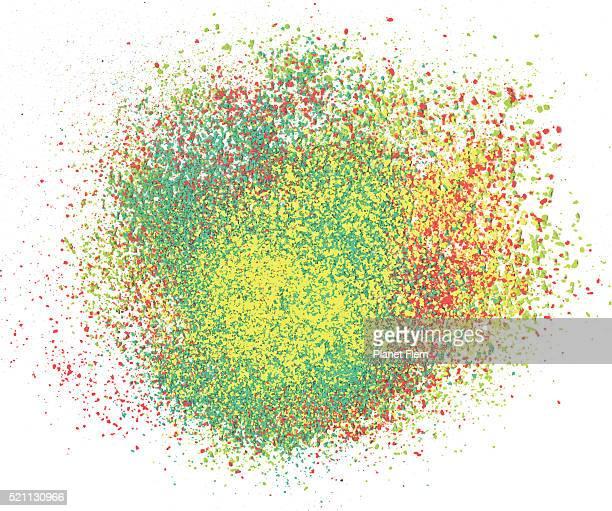 color explosion - powder paint stock illustrations