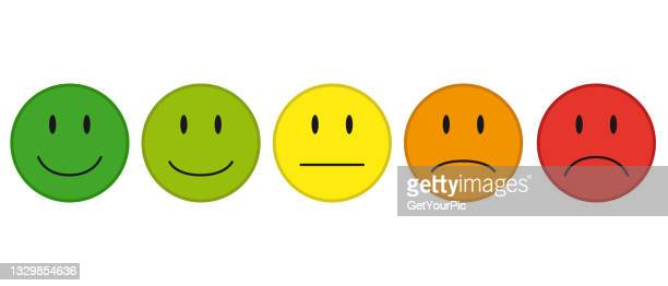 color faces concept for feedback mood