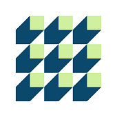 color flat style squares