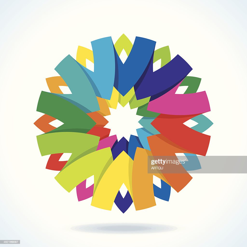 color flower wheel