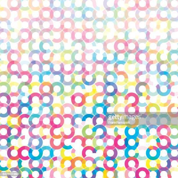 ilustraciones, imágenes clip art, dibujos animados e iconos de stock de color círculo geométrico circular vector patrón - frank ramspott