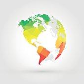 color geometric globe earth planet america