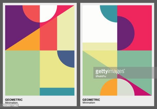 color geometric pattern background - shape stock illustrations