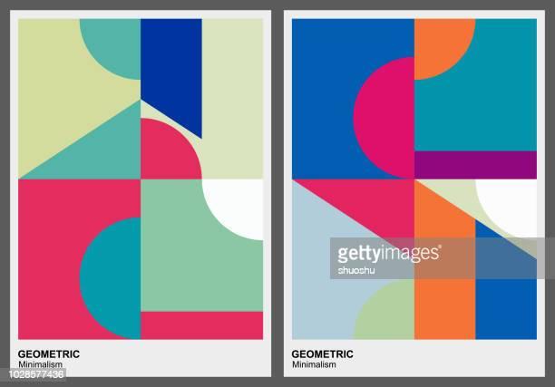 ilustrações, clipart, desenhos animados e ícones de cor de fundo padrão geométrico - geometria