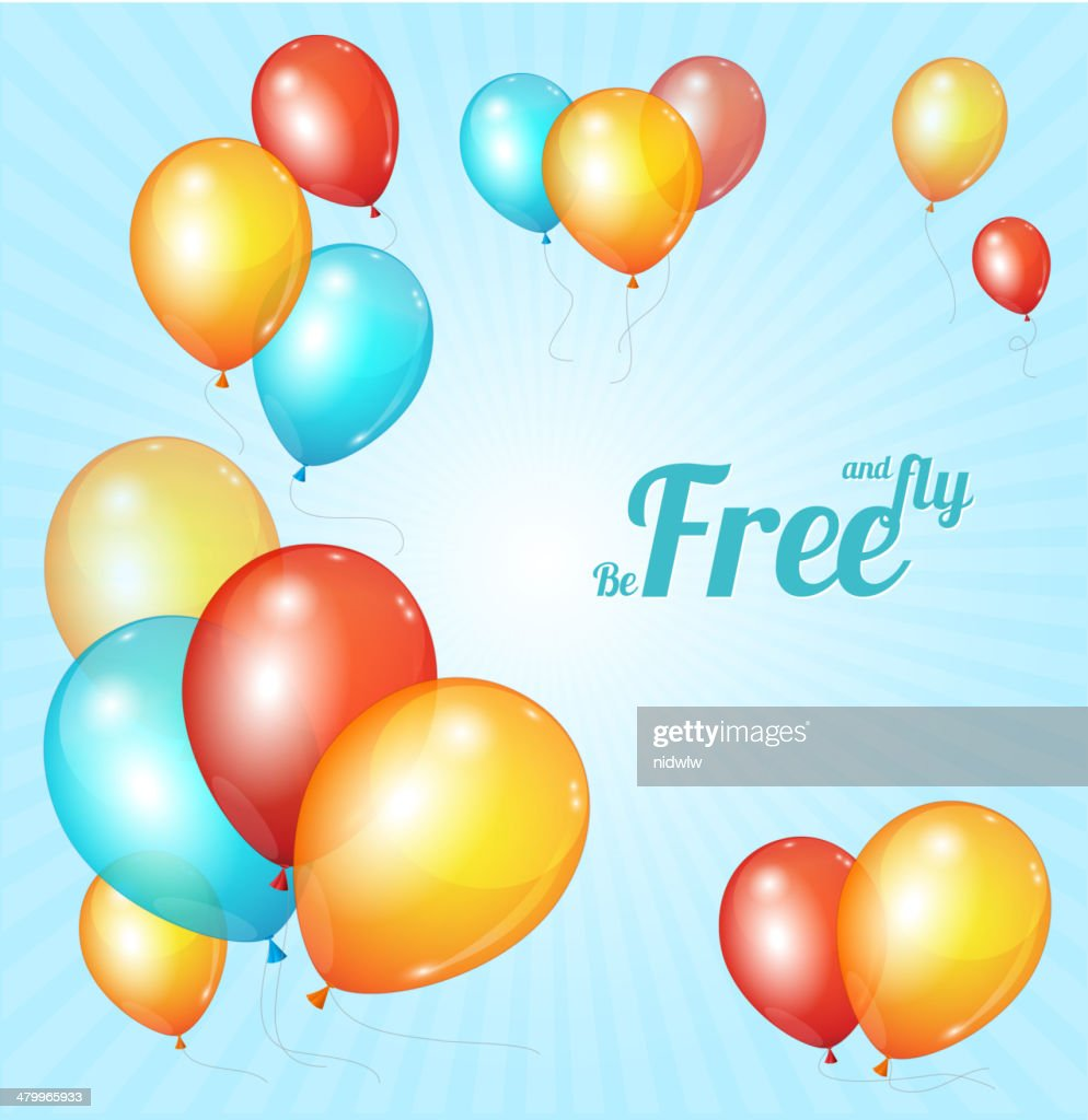 Color glossy multicolored balloons bsckground