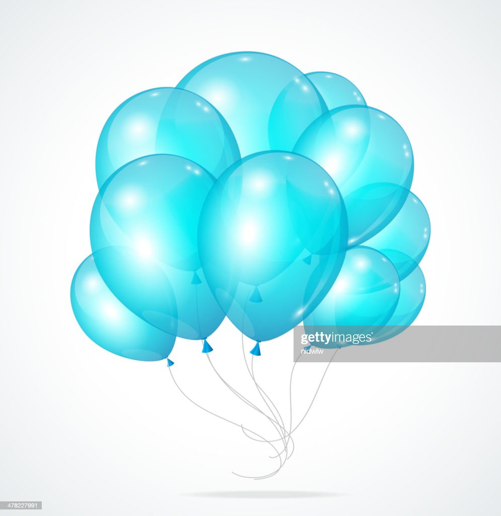 Color glossy multicolored balloons