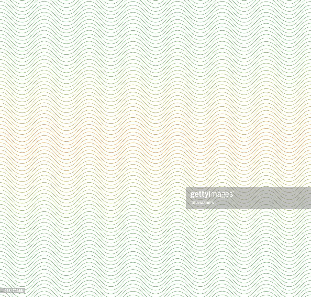 Color gradient background with waves. Guilloche. The protective layer for