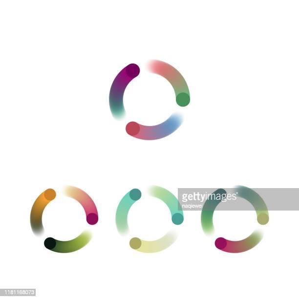 color gradient blend style curve stripe icon collection - digital composite stock illustrations