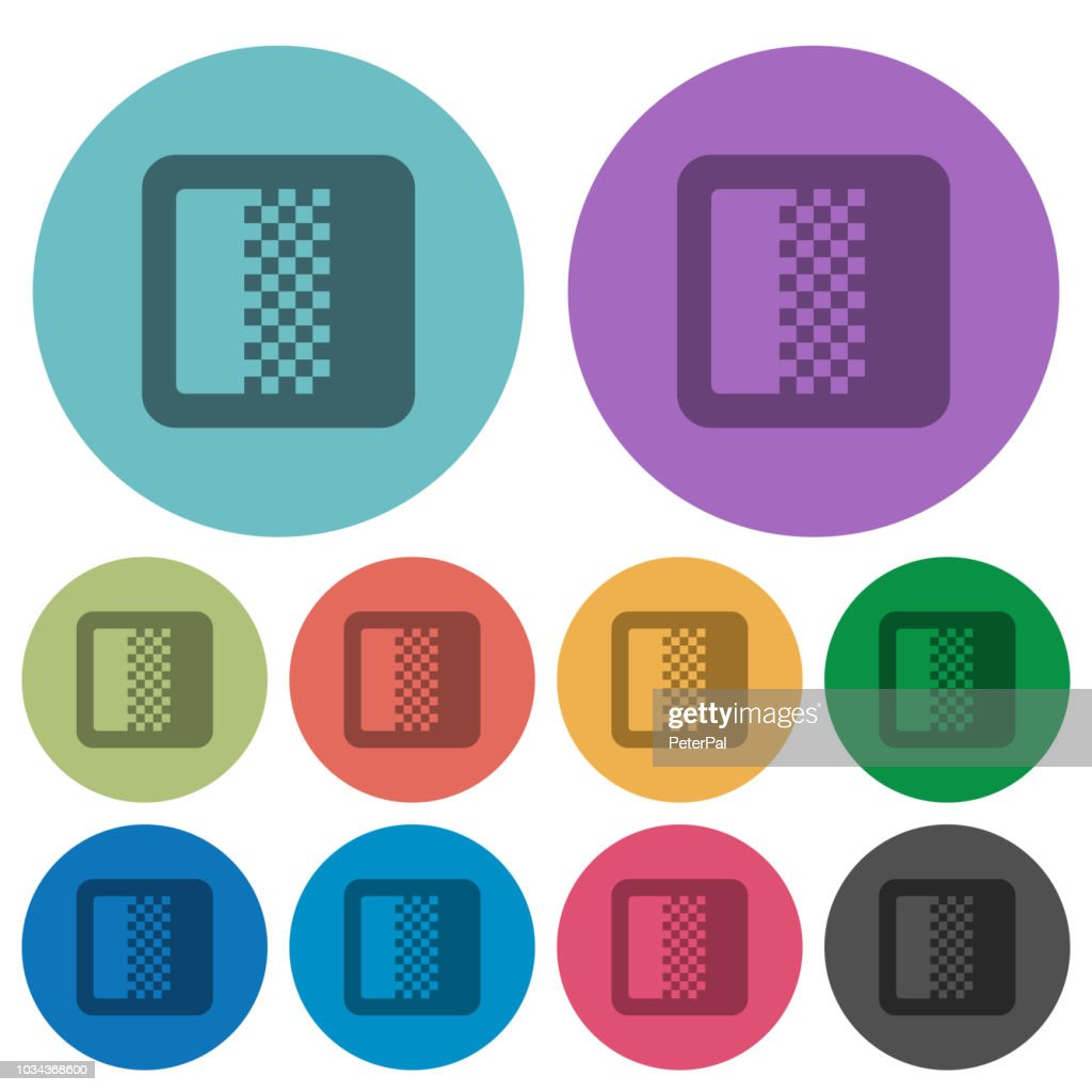 Color gradient color darker flat icons