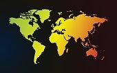 color gradient map of world dark background