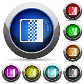 Color gradient round glossy buttons