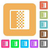 Color gradient rounded square flat icons