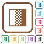Color gradient simple icons