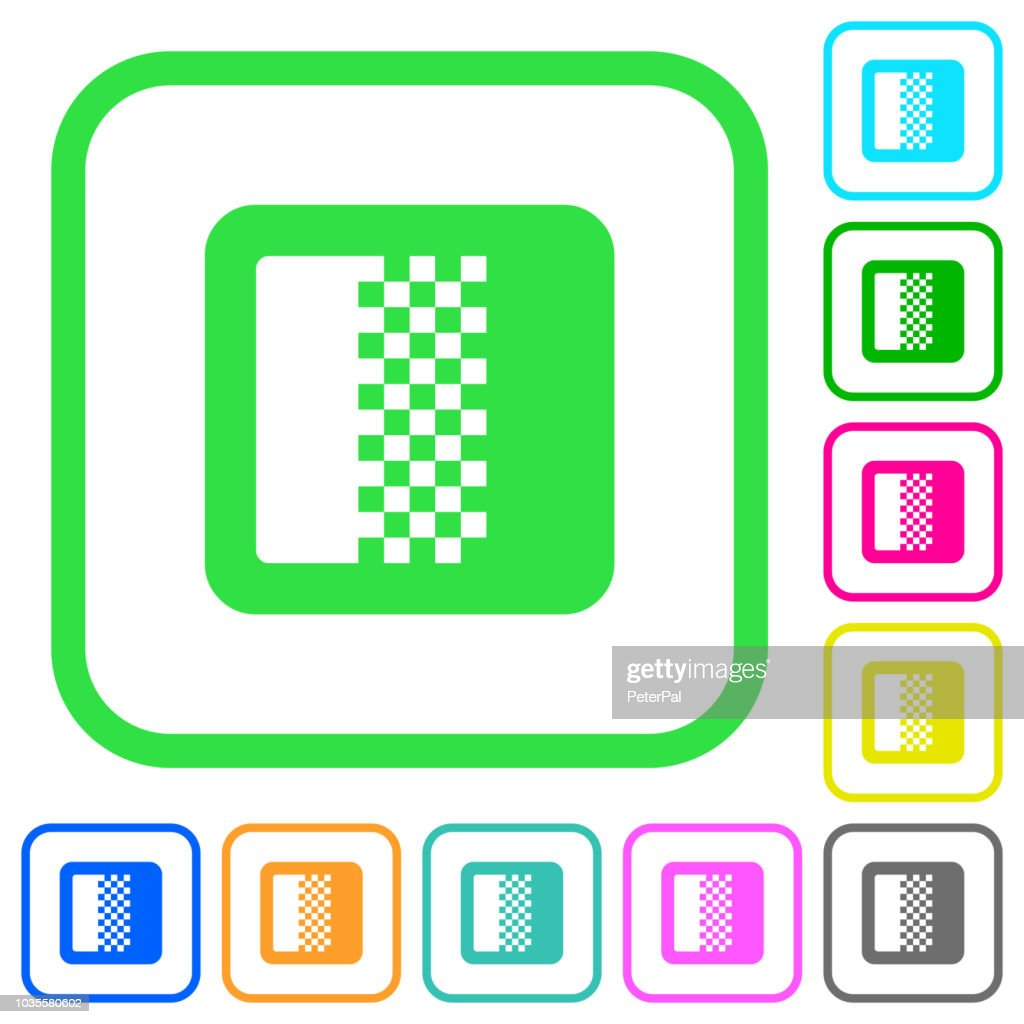 Color gradient vivid colored flat icons
