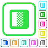 Color gradient vivid colored flat icons