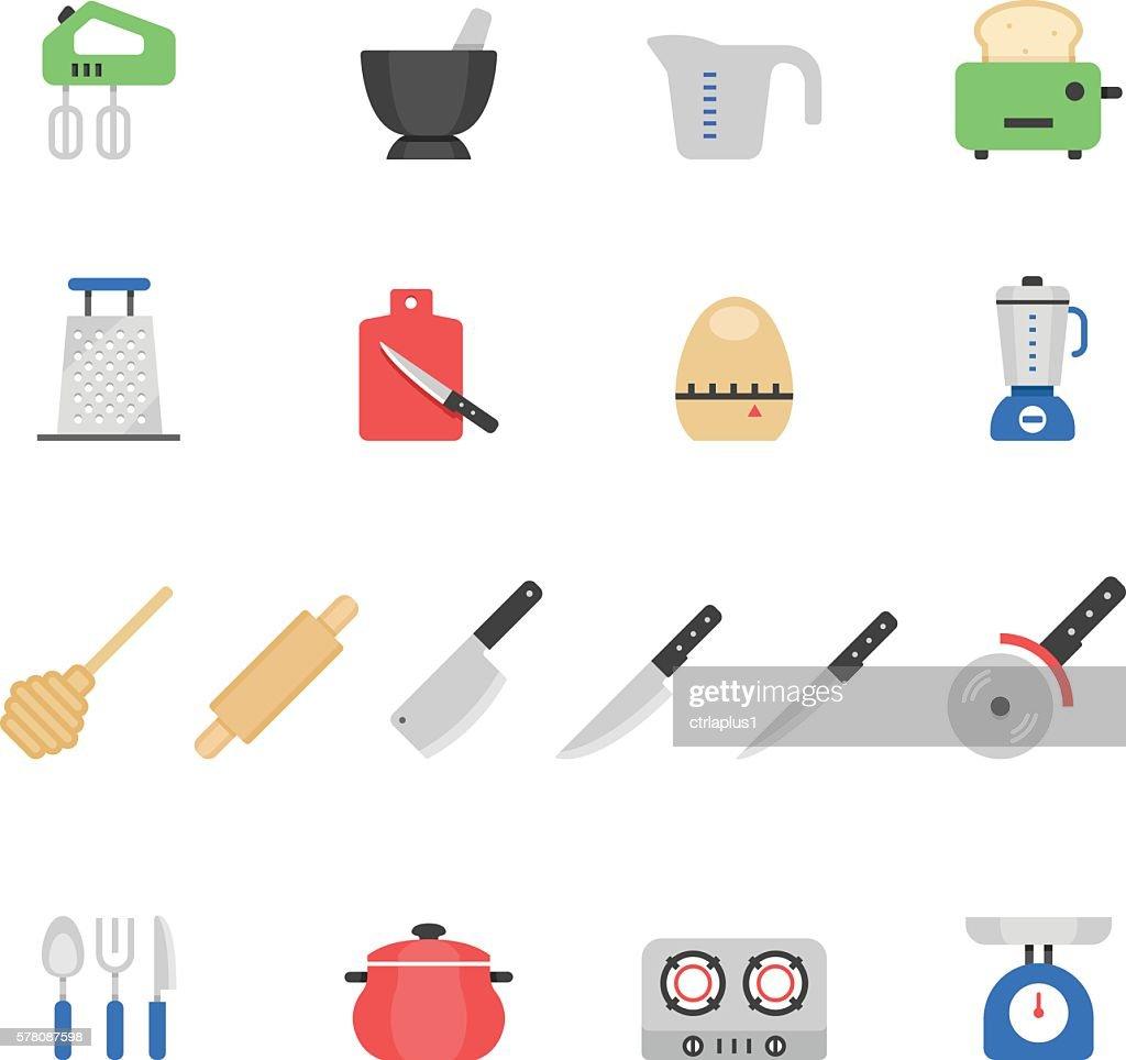 Color icon set - kitchenware