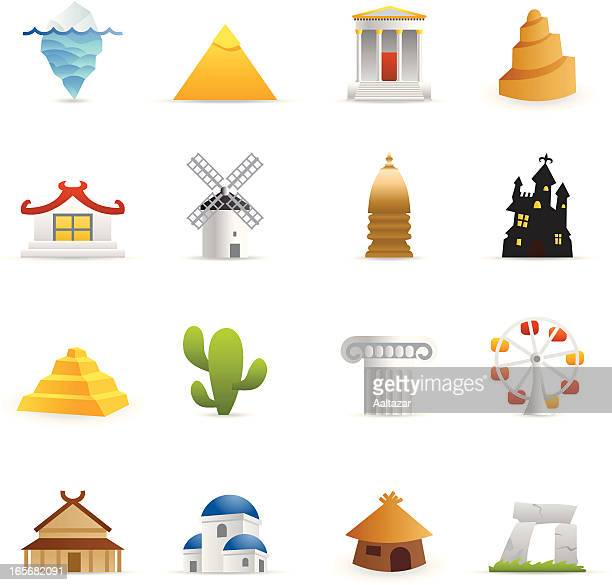 color icon - travel - megalith stock illustrations, clip art, cartoons, & icons