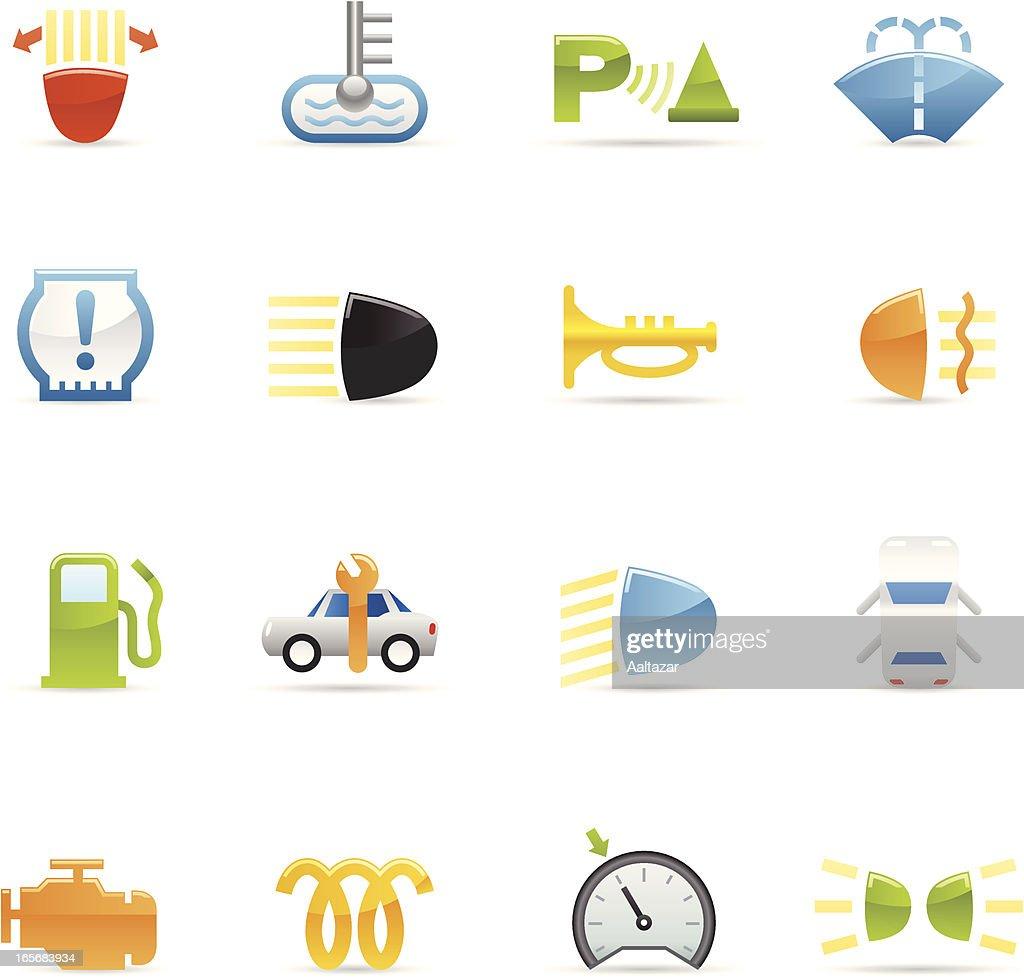 Color Icons - Car Control Symbols : stock illustration