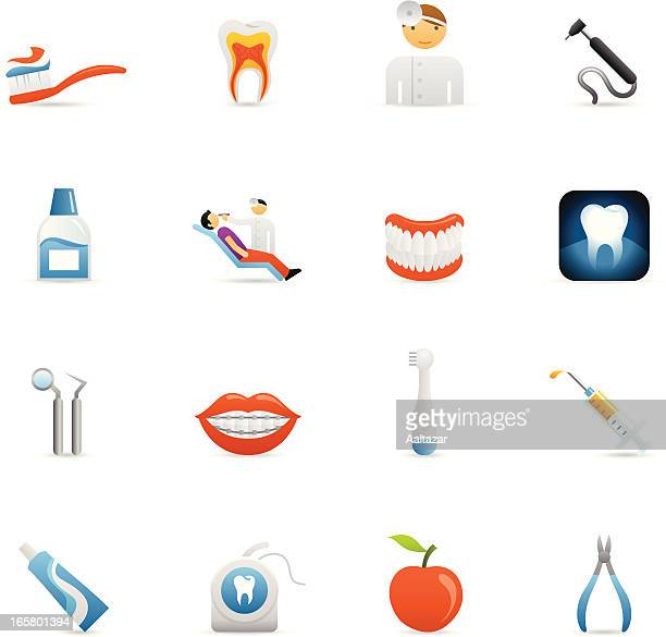 color icons - dental care - mouthwash stock illustrations, clip art, cartoons, & icons