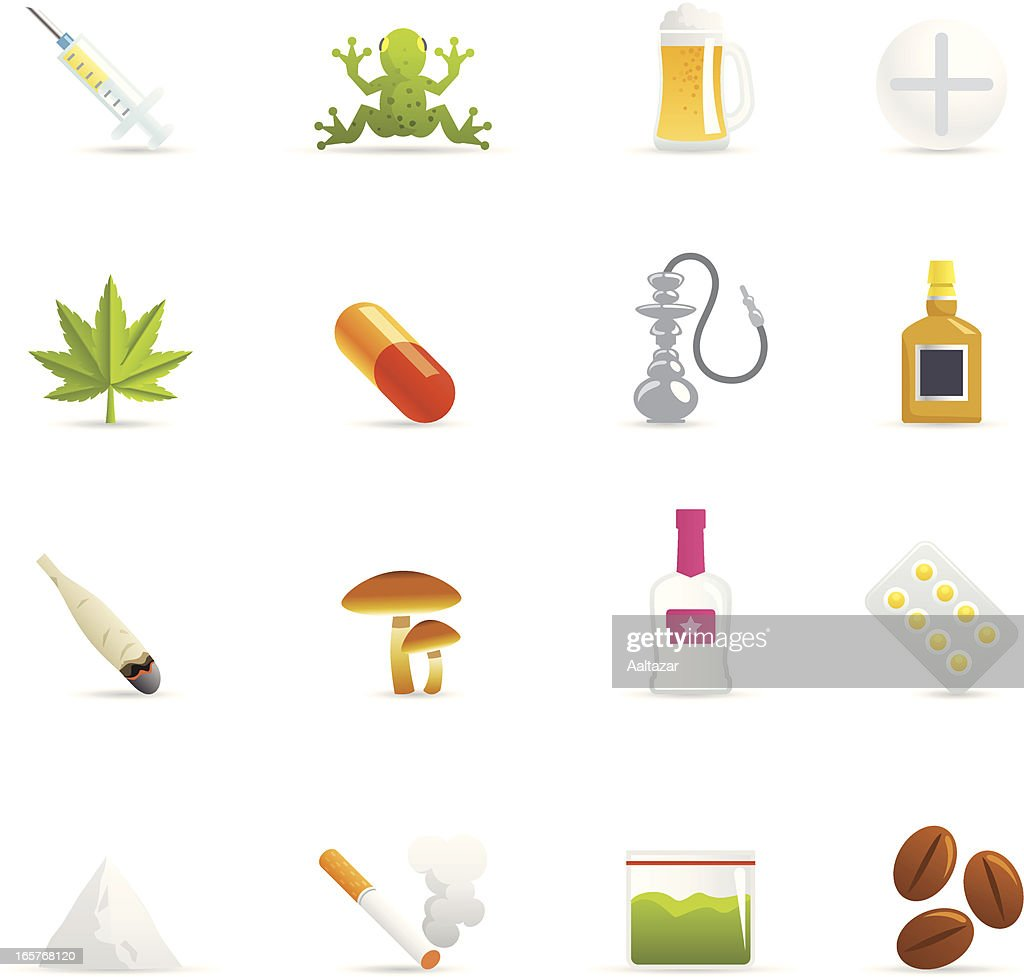 color icons drugs high res vector graphic getty images https www gettyimages com detail illustration color icons drugs royalty free illustration 165768120