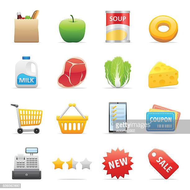 Color Icons - Grocery