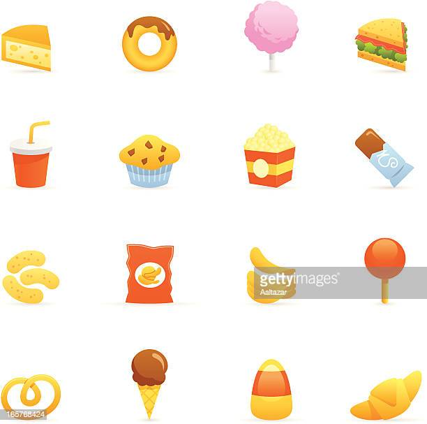 color icons - junk food - toasted sandwich stock illustrations, clip art, cartoons, & icons