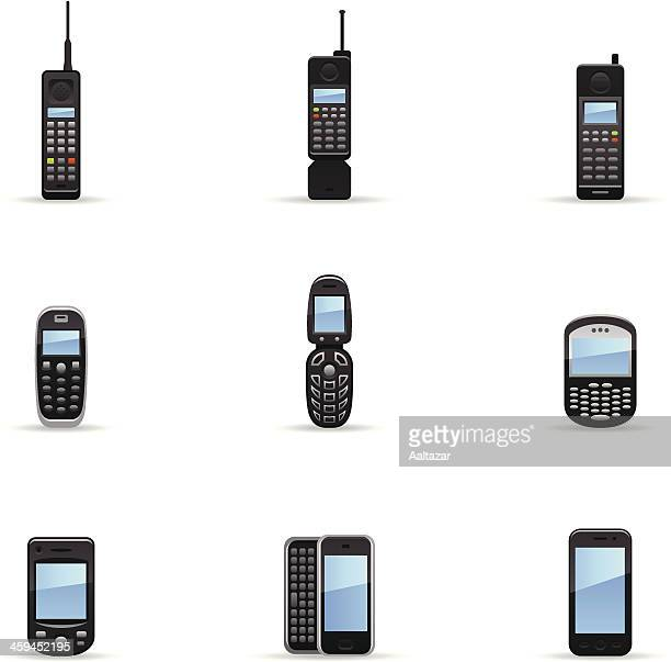 Color Icons - Mobile Phone Evolution
