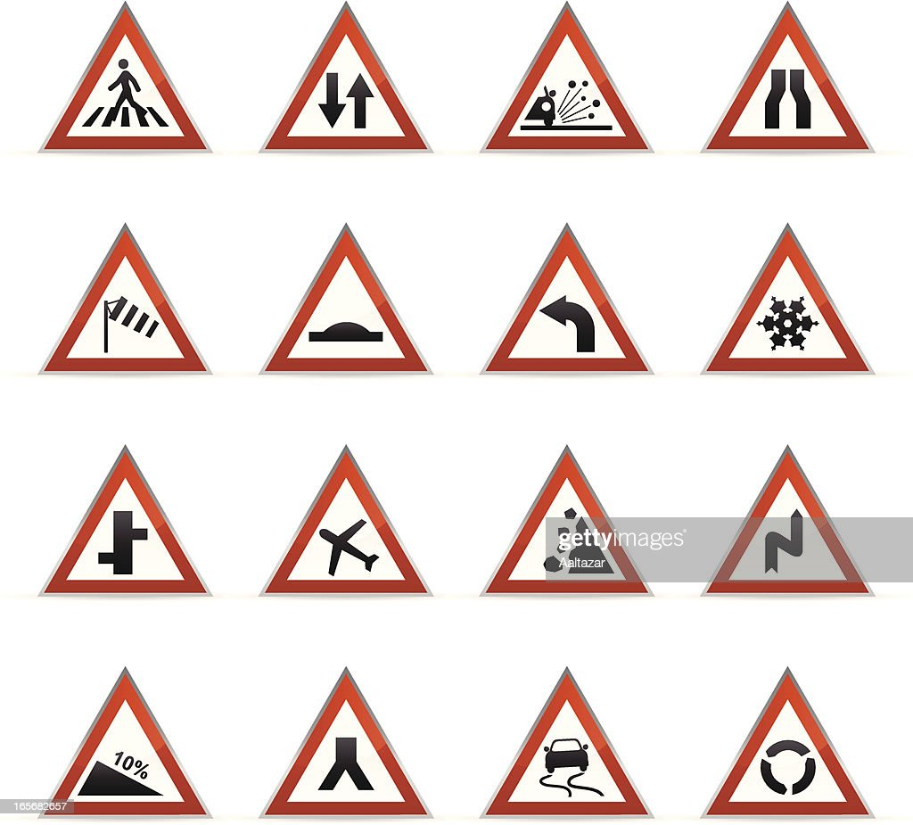 Yellow road signs gps roundabout arrows vector art getty images keywords arrow symbol black color cartoon color gradient design element directional sign buycottarizona Image collections
