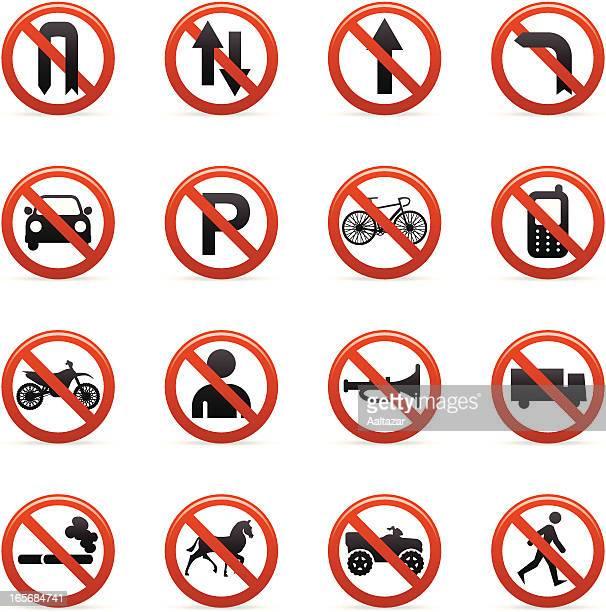 ilustrações de stock, clip art, desenhos animados e ícones de cor ícones de sinais de estrada - proibido celular