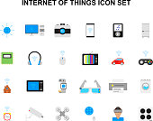 Заголовок: Color icons set. Internet of Things pack. Vector illustration