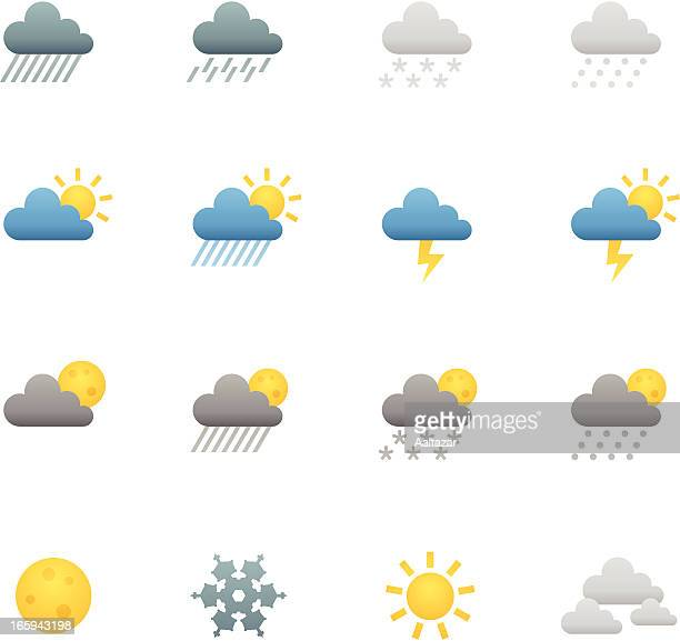 color icons - weather - hailstone stock illustrations, clip art, cartoons, & icons