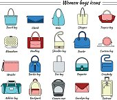 20 color icons womens bag