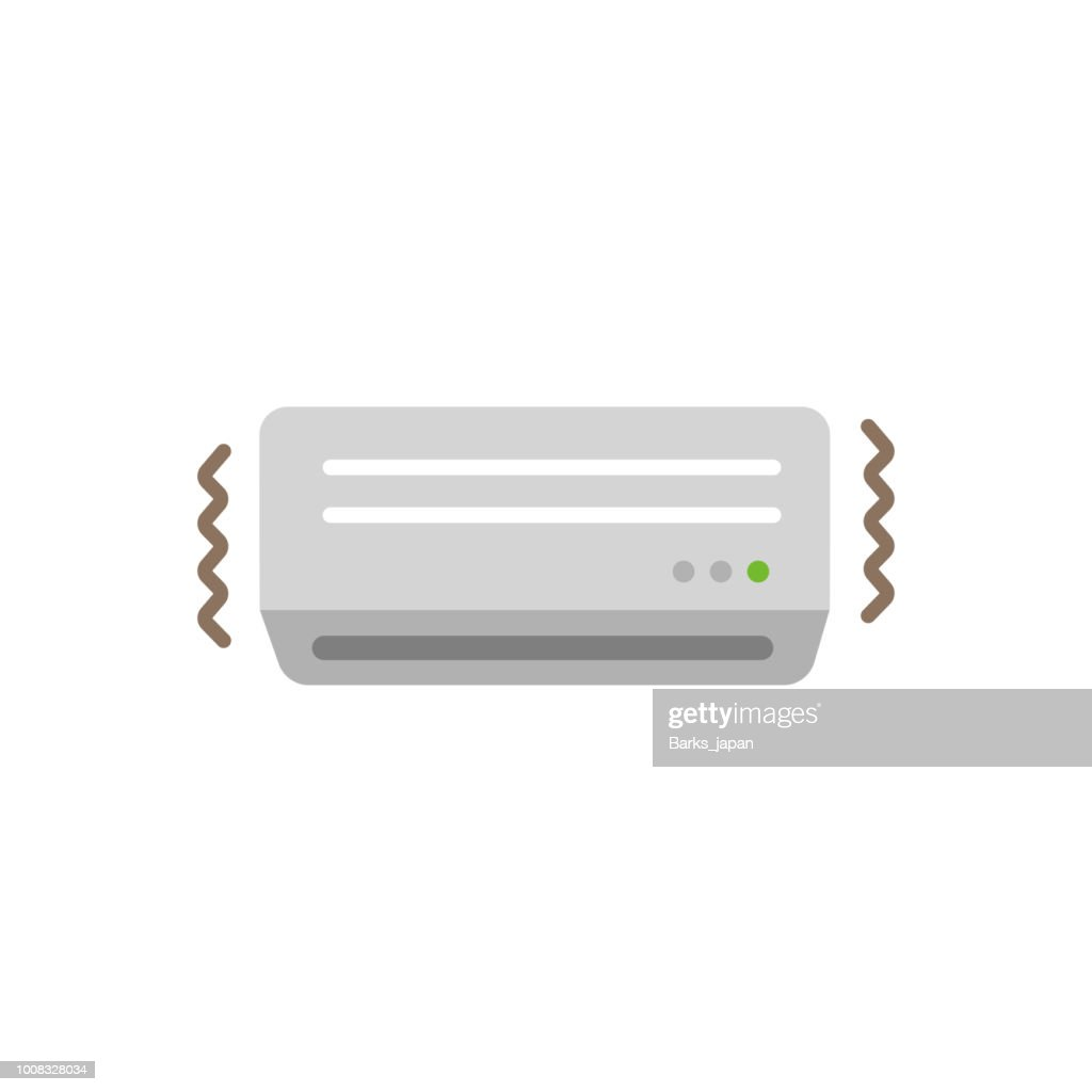 AC ( air conditioner) color illustration / out of order,borke