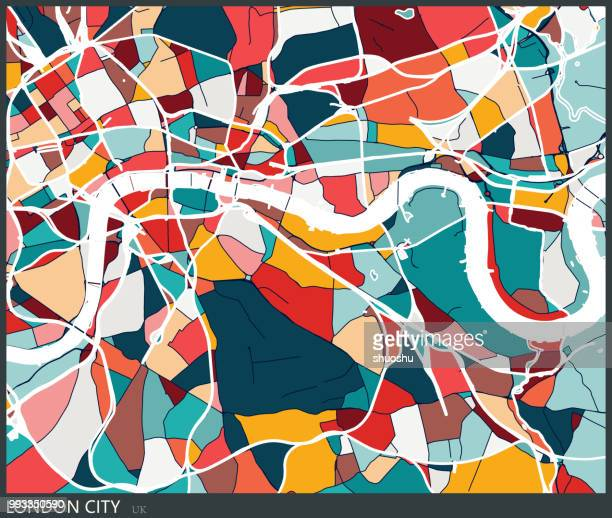 Klumpen Stil London Stadt Kunst Farbkarte