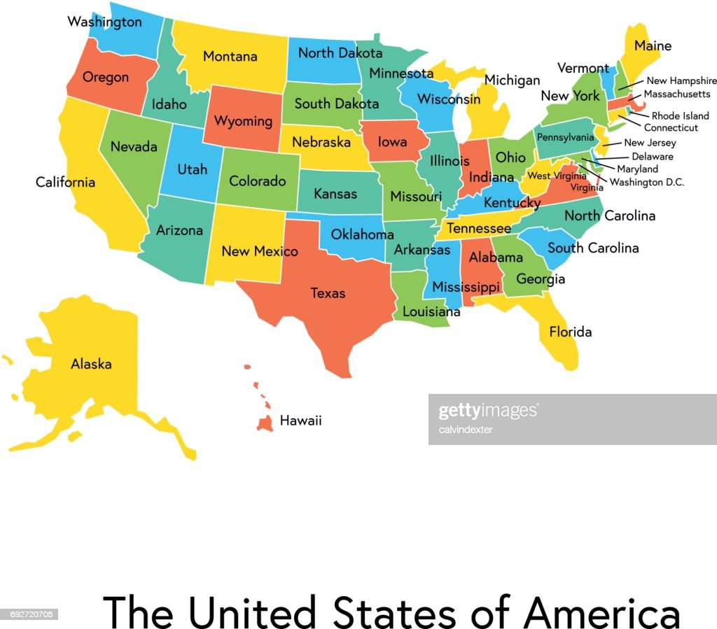 Uncategorized Color Map Of Usa usa color map with regions and names vector art getty images art