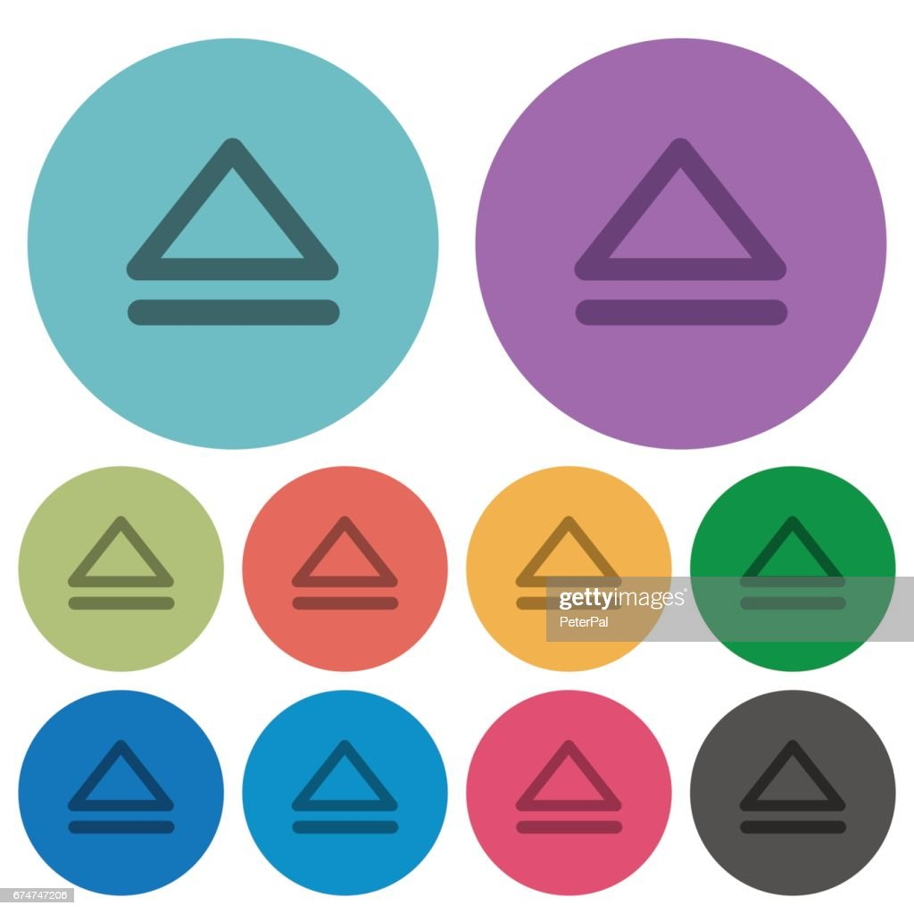 Color media eject flat icons