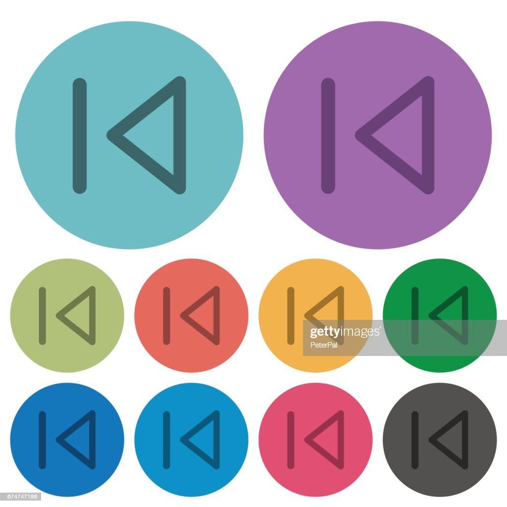 Color media prev flat icons