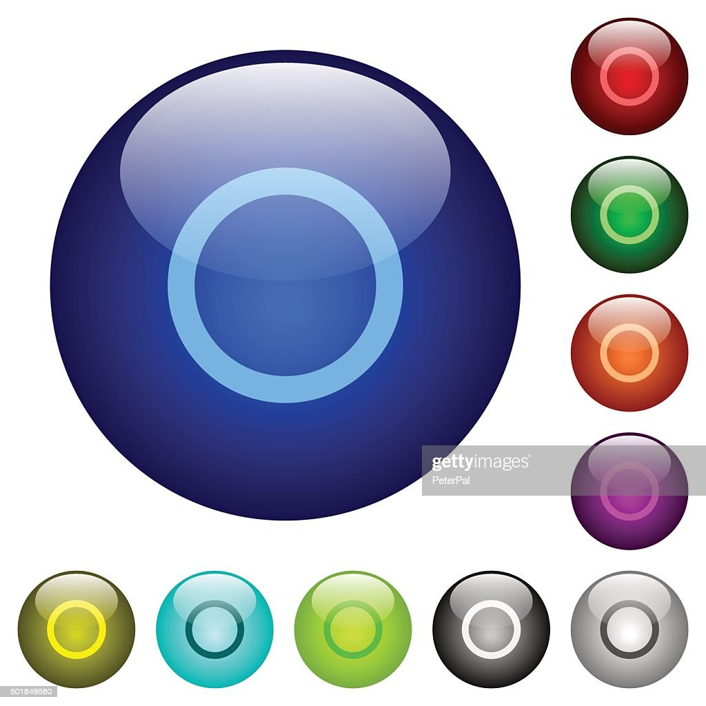 Color media record glass buttons