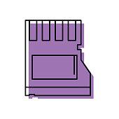 color micro sd memory data technology