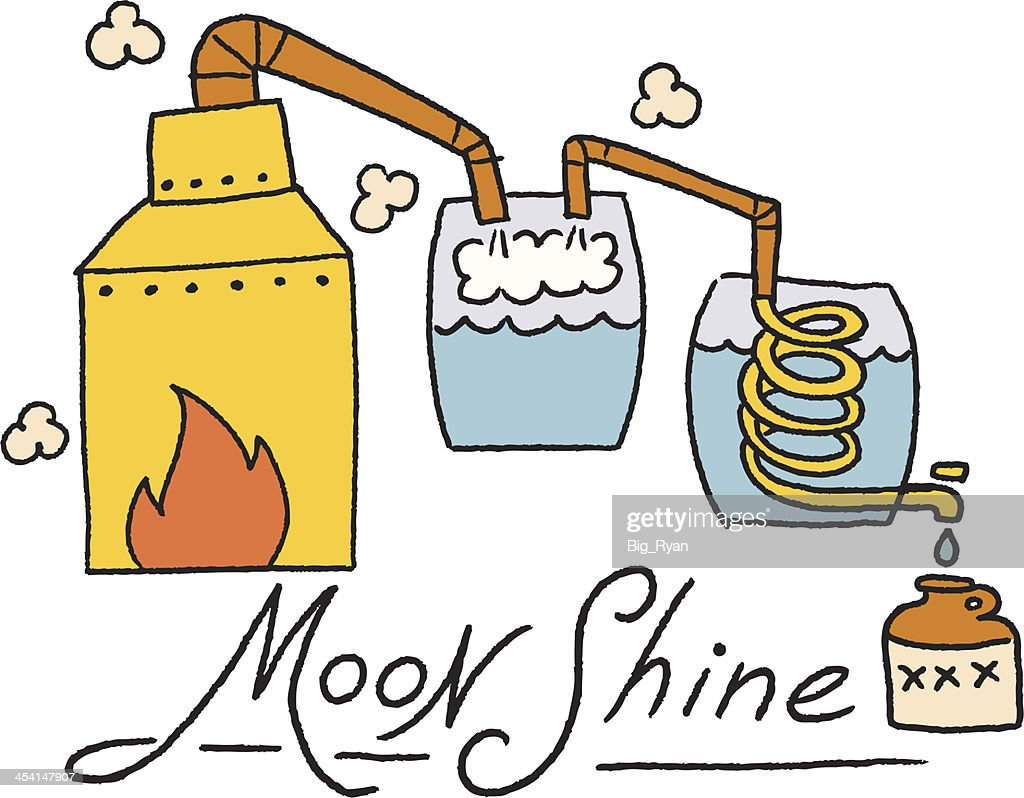 color moonshine illustration : stock illustration