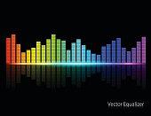 Color Music Equalizer,Vector illustration.