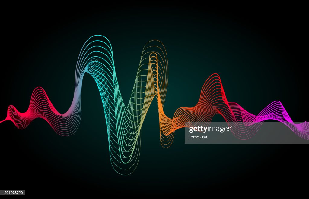 Color music wave