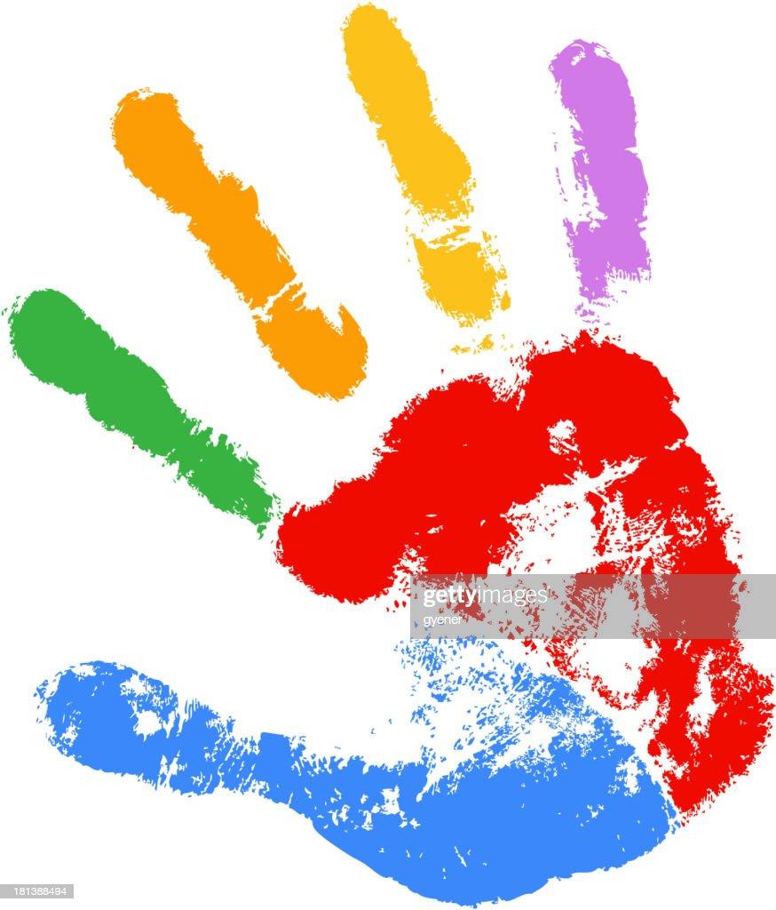 color of handprint