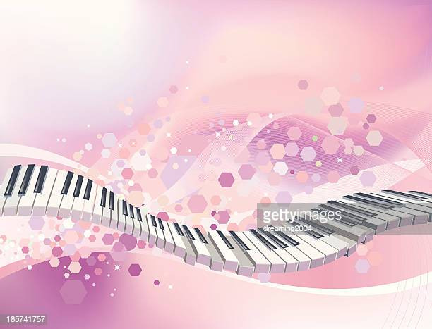 color of music - piano stock illustrations, clip art, cartoons, & icons