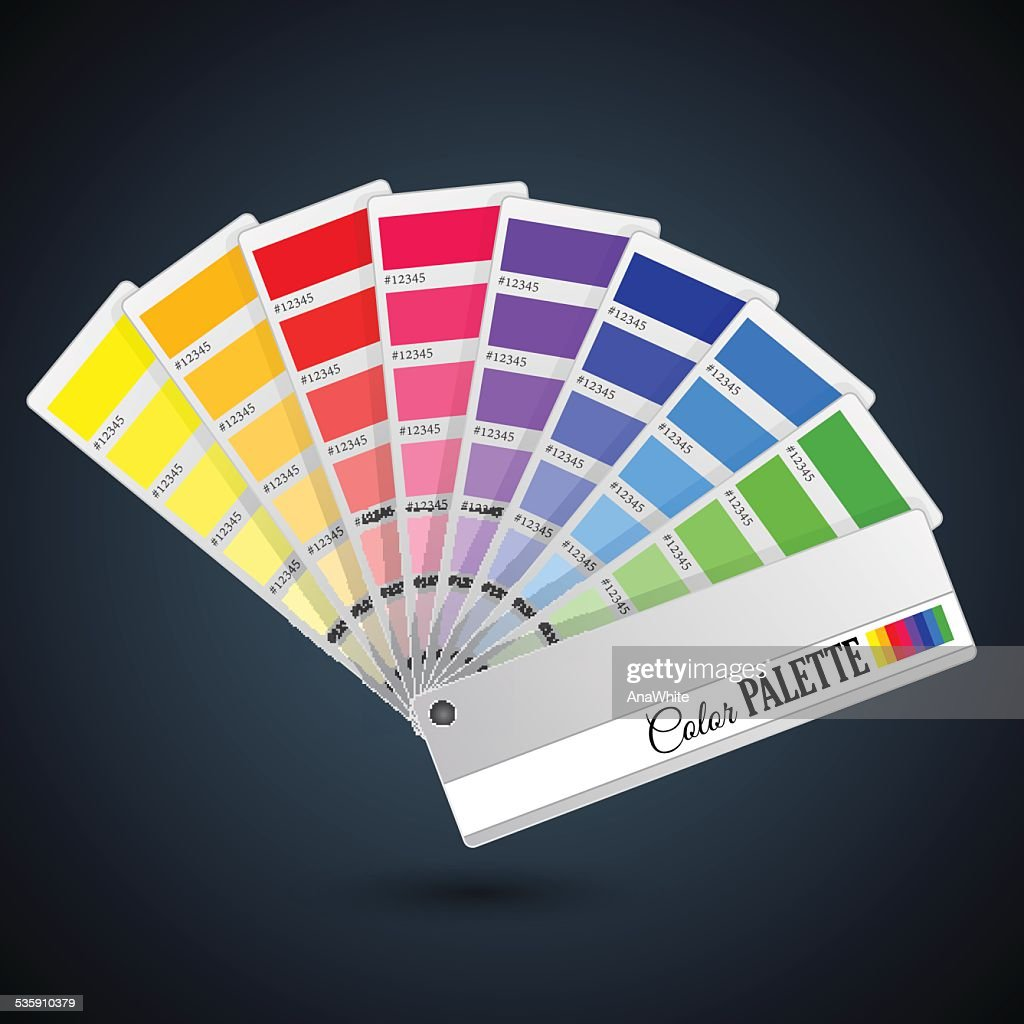 Color palette guide. Catalogue cards