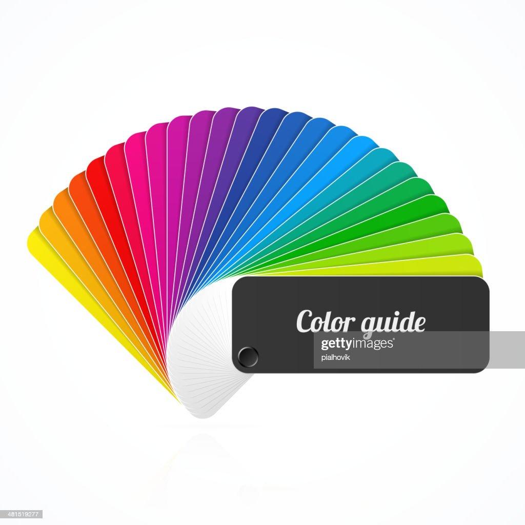 Color palette guide, fan, catalog