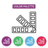 Color palette guide icontype design templates.