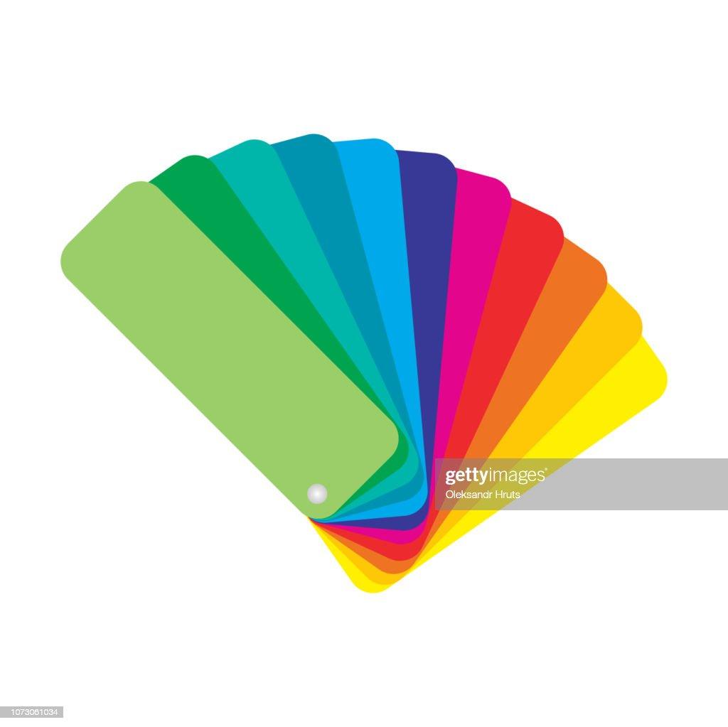 Color palette guide on grey background. Vector illustration.