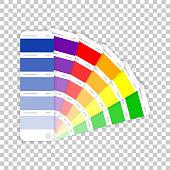 Color palette guide on transparent background. Vector illustration.